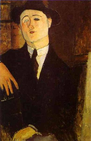 portrait of the art dealer paul guillaume 1916 XX civico museo darte contemporanea milan italy